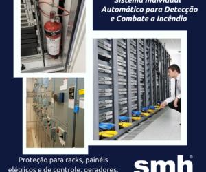 Proteção contra incêndio para racks, painéis, máquinas e equipamentos