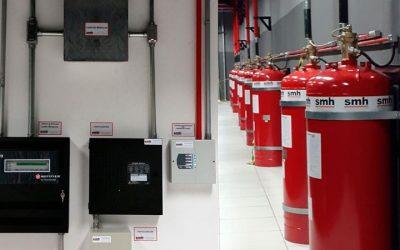 Projetos contra incêndio, manutenção periódica e estação de recarga de gases